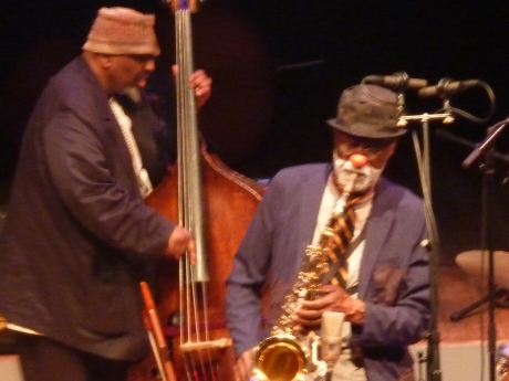 William Parker (b) and Charles Gayle (sax) at Vision Fest 19.| Joyce Jones Photo.
