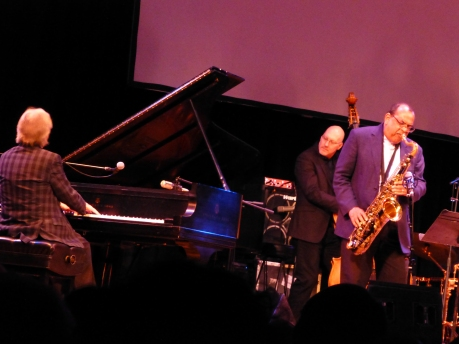 (L-R): Alan Broadbent, Scott Colley, Ernie Watts