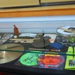 Examples of Will Calhoun's equipment on display.  Hank Williams photo.